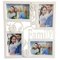 🔝 Мультирамка для фотографий, Family Rose (25), фоторамка коллаж, на 4 фото | 🎁%🚚