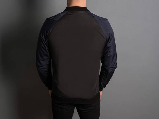 """Мужская Весенняя куртка """"PaBlo Zibrovv"""" ( черный / синий ), фото 3"""