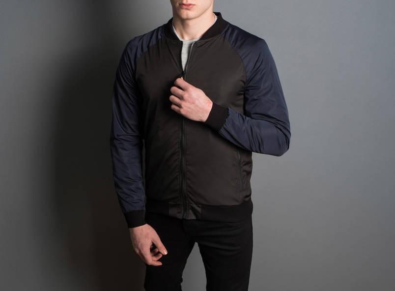 """Мужская Весенняя куртка """"PaBlo Zibrovv"""" ( черный / синий ), фото 2"""