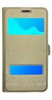 Чехол книжка Momax для Samsung Galaxy J1, J110, J1 Ace Duos Gold, фото 1
