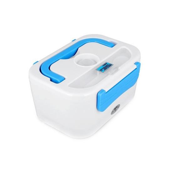 Автомобильный термоконтейнер для еды с подогревом YY-3066 - Белый с синим  ланч бокс  с доставкой по Украине