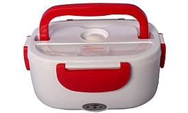 🔝 Автомобильный ланч бокс с подогревом, термоконтейнер для еды, YS-001, с кабелем 220V, цвет - красный   🎁%🚚