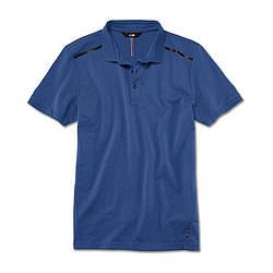 Оригинальная мужская рубашка-поло BMW M Polo Shirt, Men, Marina Bay Blue