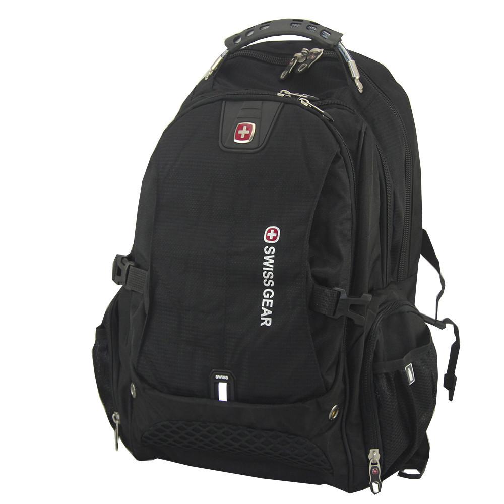 🔝 Городской рюкзак для ноутбука SwissGear 1820, цвет - черный, с доставкой по Киеву и Украине   🎁%🚚