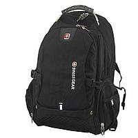🔝 Городской рюкзак для ноутбука SwissGear 1820, цвет - черный, с доставкой по Киеву и Украине   🎁%🚚, фото 1