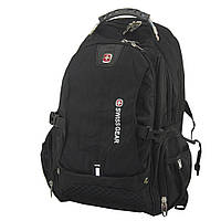 Городской рюкзак для ноутбука SwissGear 1820  цвет - черный  с доставкой по Киеву и Украине