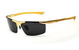 Очки с поляризованными линзами  для водителей  Veithdia - золотая оправа