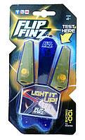 Игрушечный нож бабочка  Flip Finz (Флип Финз)  светящийся - синий/оранжевый  с доставкой по Киеву и Украине