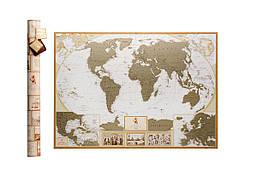 Скретч карта мира  My Map Antique edition  карта путешествий  ENG