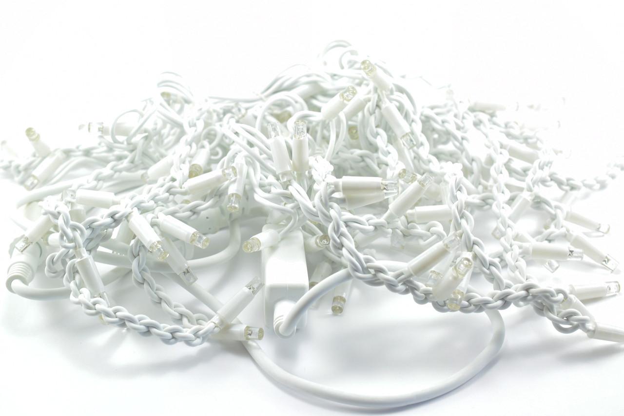 Светодиодная гирлянда бахрома  гирлянда на улицу  100 LED  цвет - тёплый белый