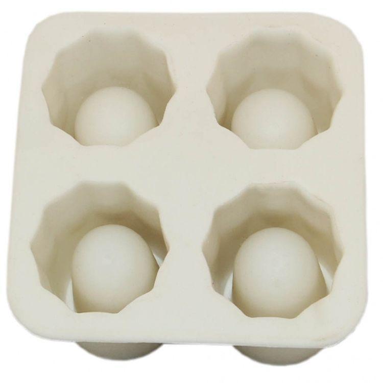 Силиконовые формочки для льда  Ледяная рюмка  - белая