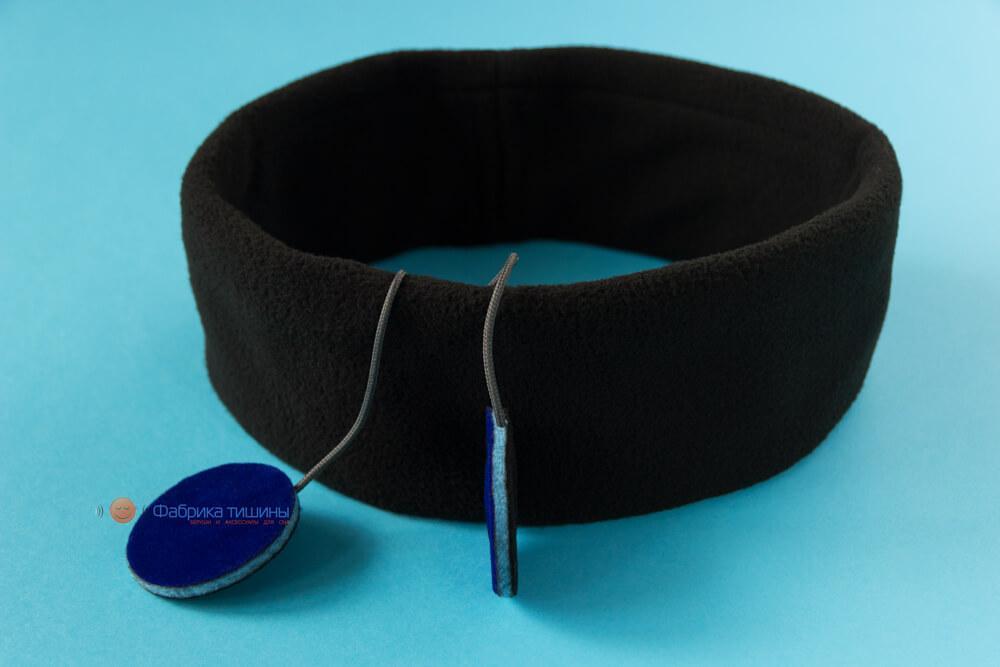 Наушники для сна Uneed черные с тонким динамиком