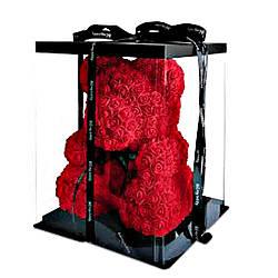 Хіт!Мишко з Троянд 40см ,ведмедик з квітів, 3Д ведмедик,іграшка