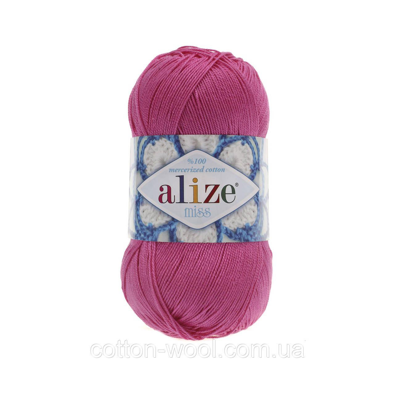 Alize Miss (Ализе Мисс) 100% мерсеризованный хлопок 130 светлая фуксия