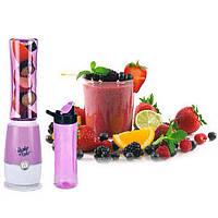 🔝 Блендер с бутылкой, для взбивания коктейлей, Shake n Take, цвет - фиолетовый | 🎁%🚚, фото 1