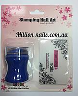Набор для стемпинга цветной штамп и скрапер Stamping Naill Art