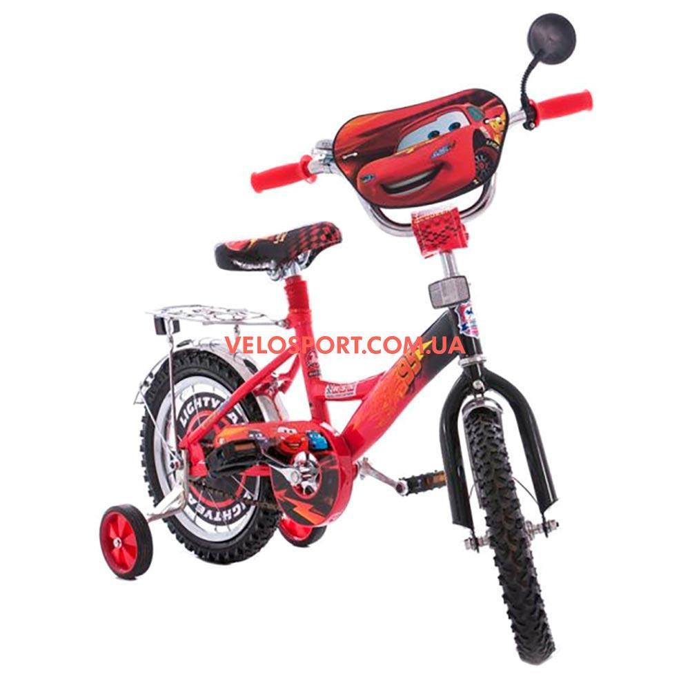 Детский велосипед Mustang Тачки 14 дюймов черно-красный