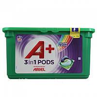 Капсулы для стирки Ariel A+ 3в1 color (для цветного), 38 шт