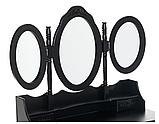 Туалетный стол ELSA 90см с зеркалами и табуретом Черный, фото 3