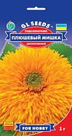 Соняшник Плюшевий Ведмедик з численними махровими суцвіттями діаметром 10 см, упаковка 1 г
