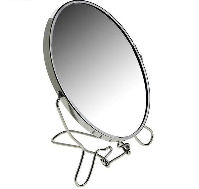 🔝 Двустороннее косметическое зеркало для макияжа на подставке Two-Side Mirror 19 см.   🎁%🚚