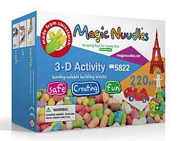 🔝 Детский конструктор, липучка, Magic Nuudles, развивающий, 220 деталей | 🎁%🚚