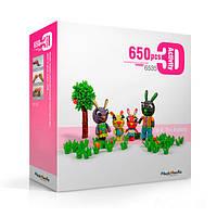 🔝 Развивающий конструктор, для детей, Magic Nuudles, 650 деталей - кролики | 🎁%🚚, фото 1