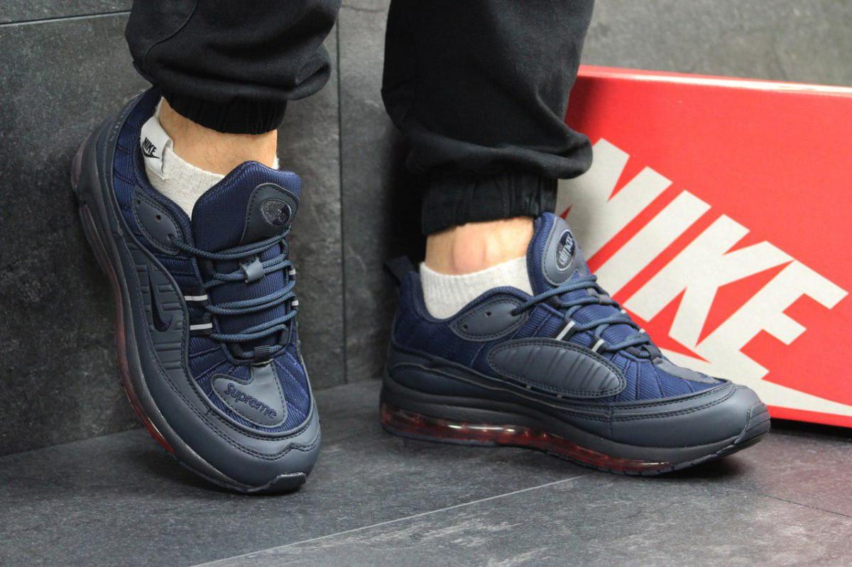 1ca1488c Кроссовки мужские темно синие Supreme x Nike Air Max 97 4870 ...