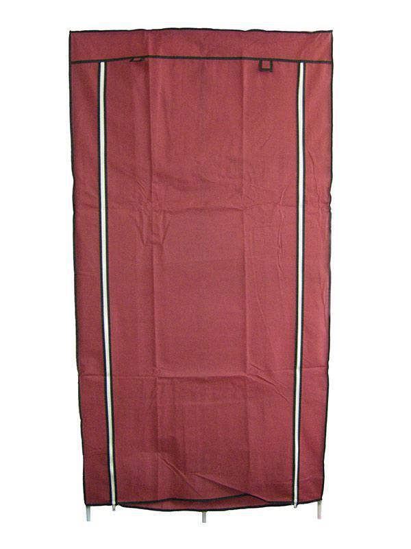 🔝 Текстильный шкаф, для одежды, HCX Storage Wardrobe 8890, складной, цвет - бордовый | 🎁%🚚