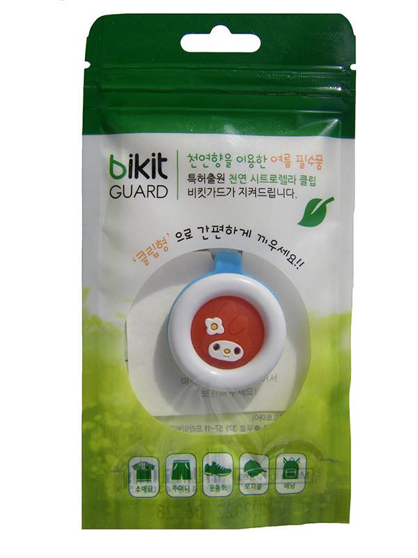 🔝 Отпугиватель комаров, клипса, Bikit Guard, для детей, цвет - голубой (заяц) | 🎁%🚚