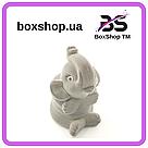 Футляр для кольца Слон серый, фото 3
