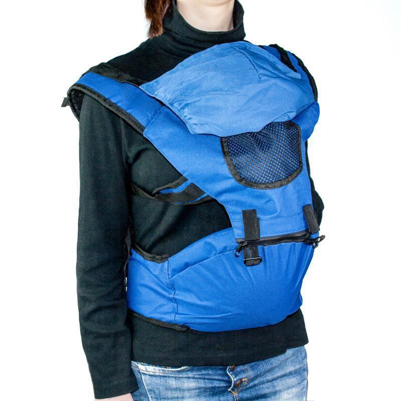 🔝 Рюкзак-кенгуру для переноски детей Хипсит Hip Seat - синий | 🎁%🚚