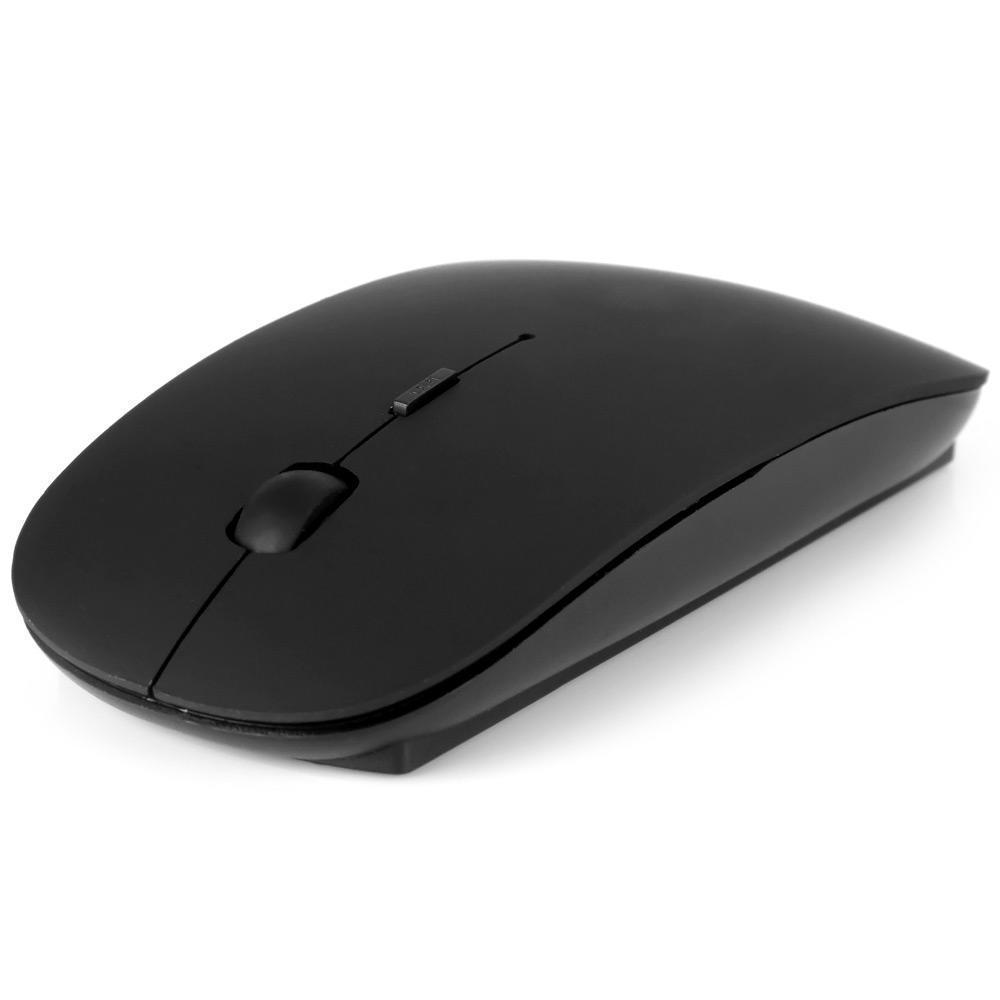 🔝 Беспроводная оптическая мышка для компьютера и ноутбука Wireless Mouse 2.4GHz - чёрная | 🎁%🚚