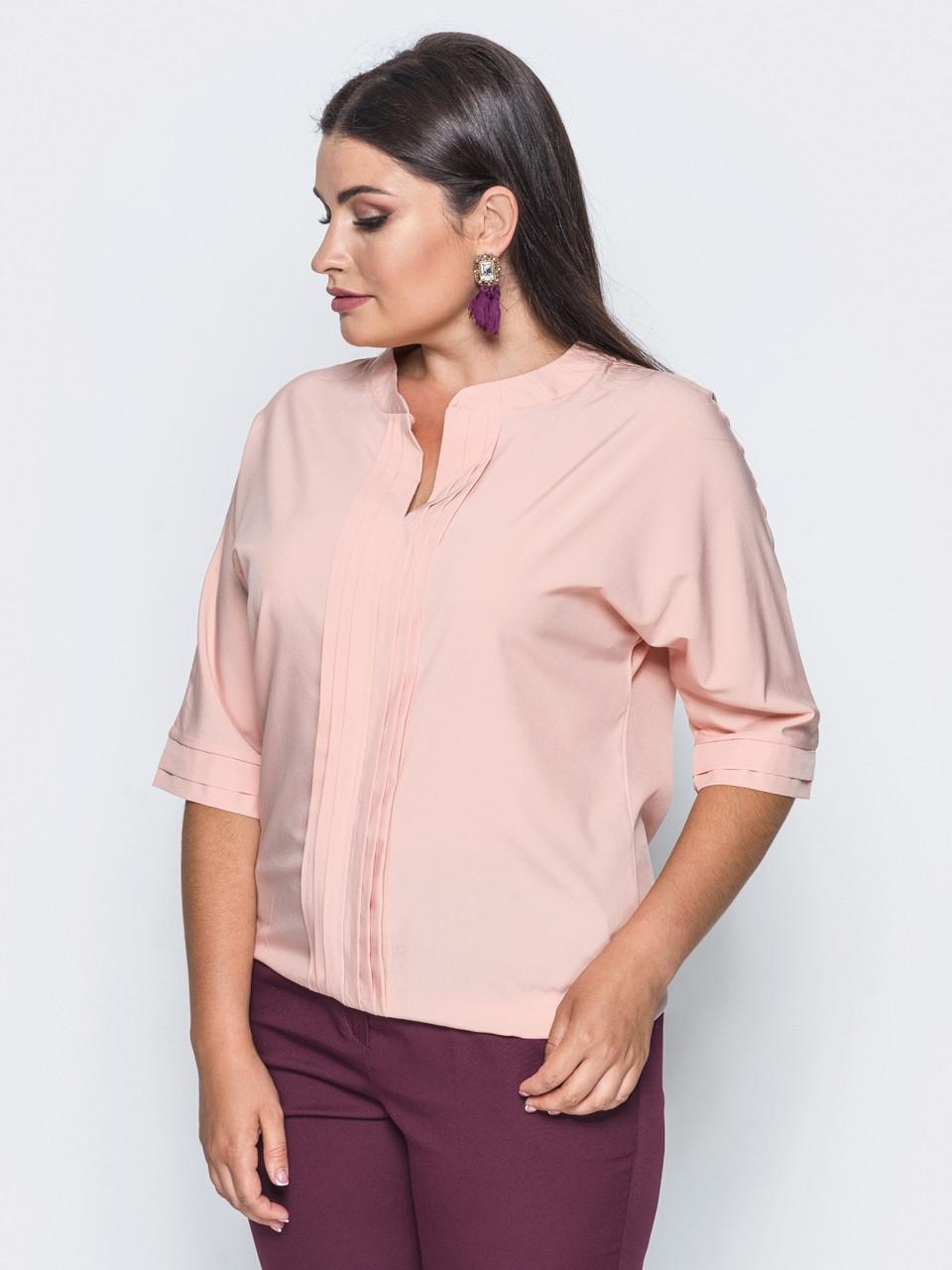 0893bdee42a 👶Нежная персиковая блузка с V-образным вырезом (с рукавом 3 4 ...