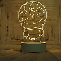 🔝 Светодиодный светильник, детский ночник, кот Дораэмон, (доставка по Украине) | 🎁%🚚, фото 1