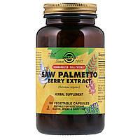 Solgar, Экстракт ягод со пальметто, 180 капсул на растительной основе