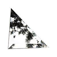 """Плитка зеркальная """"серебро"""" треугольник150мм фацет 10мм"""