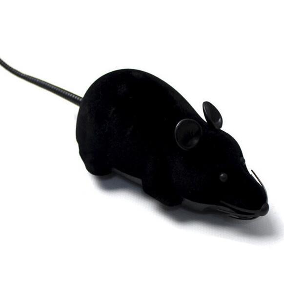 🔝 Игрушка для домашних питомцев на радиоуправлении Мышь - чёрная | 🎁%🚚