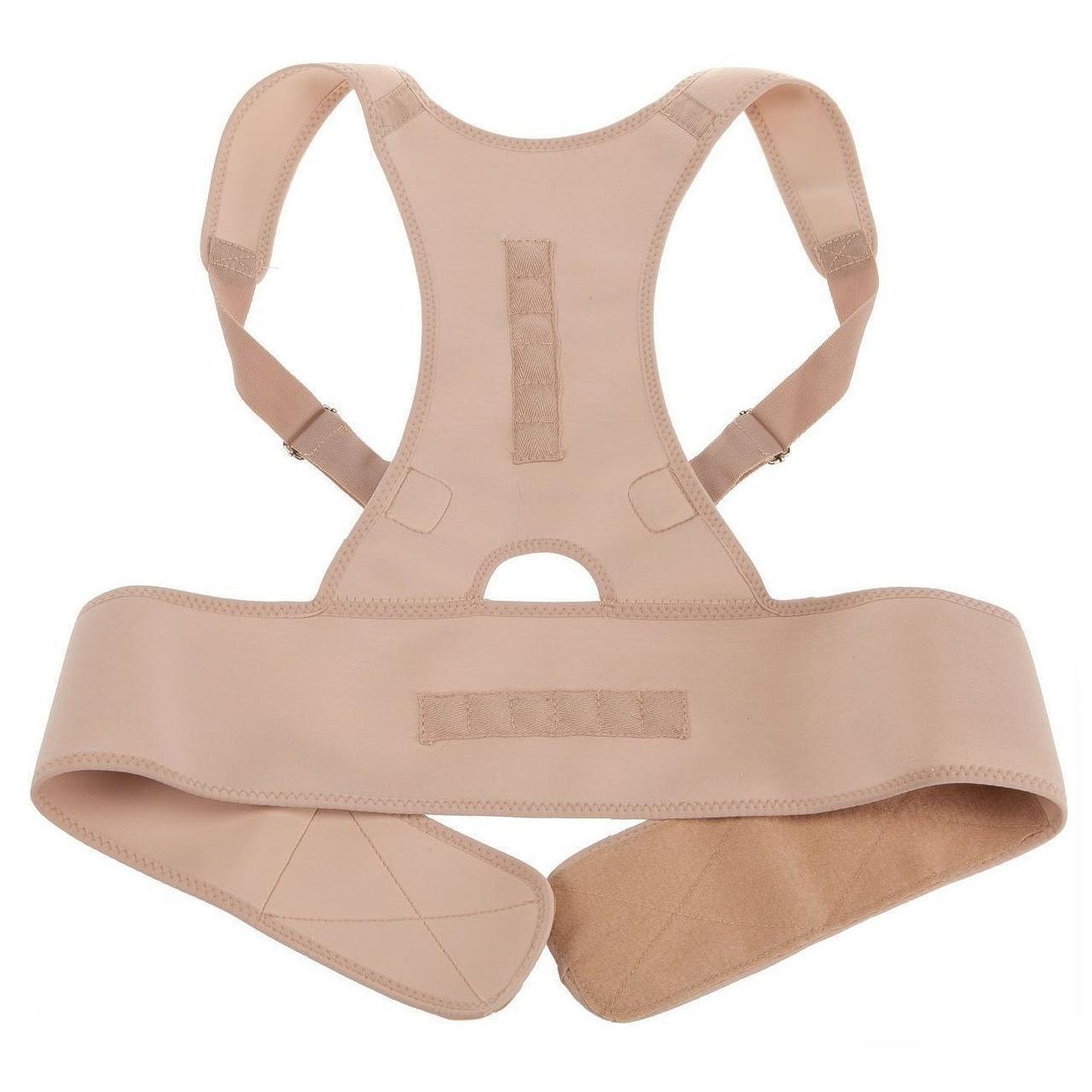 🔝 Магнитный корсет для спины, ортопедический, Royal Posture, цвет - бежевый, размер XL | 🎁%🚚