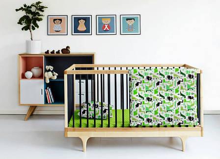 """Детский постельный комплект в кроватку """"Дино"""" (бязь, 100% хлопок), фото 2"""