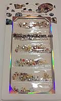 Набор цветного декора для дизайна ногтей