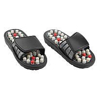 🔝 Массажер для ног, Massage Slipper, массажные тапочки, рефлекторные, для ступней. Размер XL   🎁%🚚