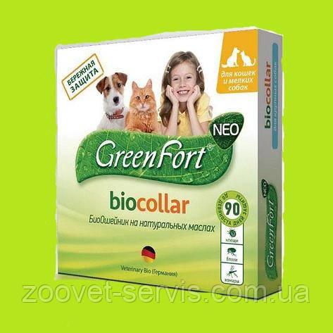 """БиоОшейник против блох и клещей для кошек и собак """"Green Fort"""""""