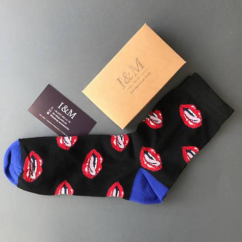 Носки I&M Craft Elegant's черные с губами (070177), фото 2