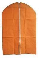 🔝 Чехол для одежды, тканевый, 60x90 см., цвет - оранжевый   🎁%🚚, фото 1