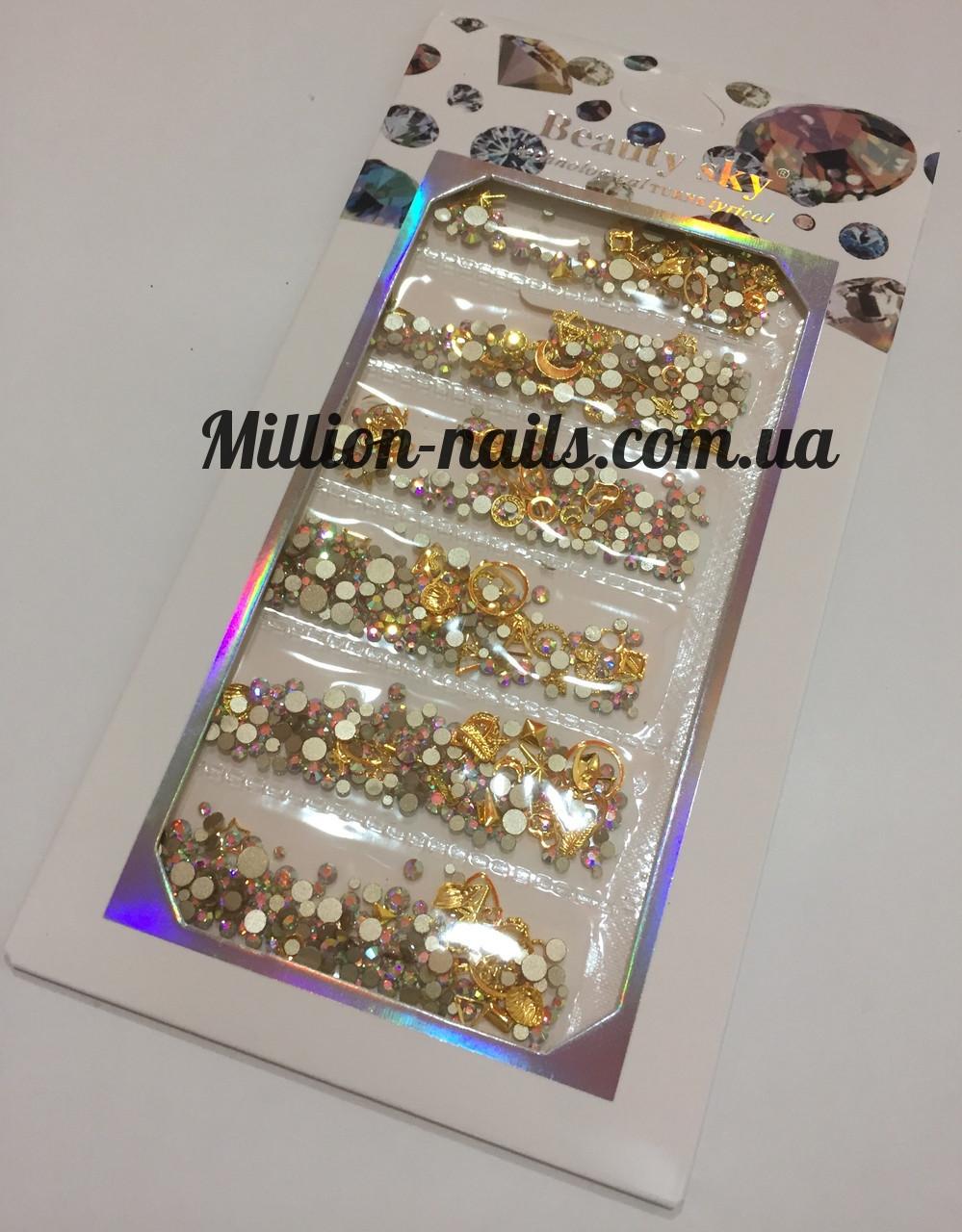 Набор декора для ногтей ,золото