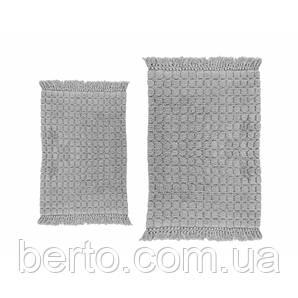 Набор ковриков для ванной комнаты Irya - Broadway gri серый (60*90 + 40*60)