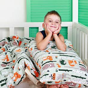 """Детский постельный комплект в кроватку """"Лес"""" (бязь, 100% хлопок), фото 2"""