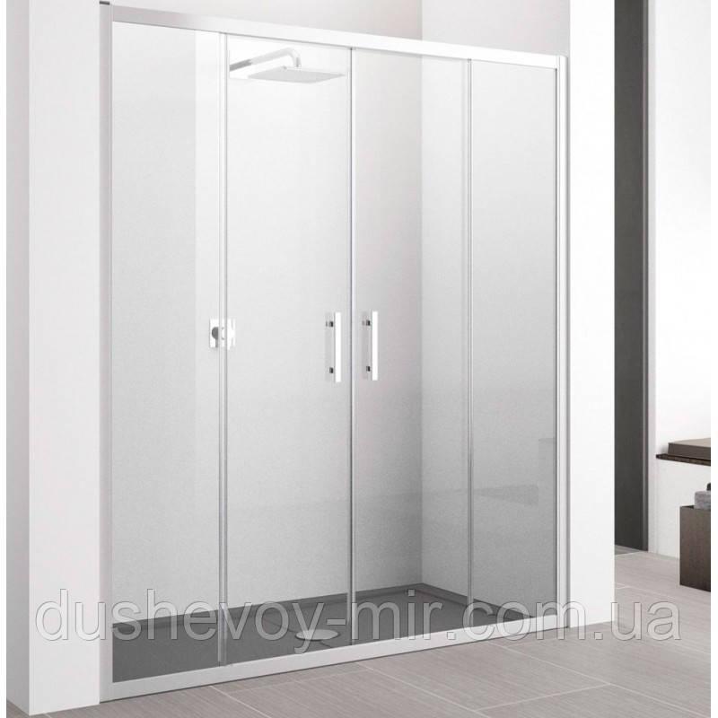 Душевые двери GRONIX Slide 130х190 две двери