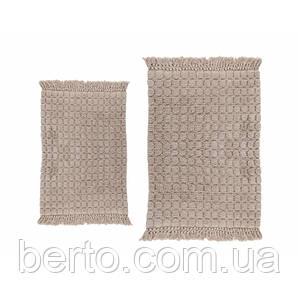 Набор ковриков для ванной комнаты Irya - Broadway бежевый (60*90 + 40*60)